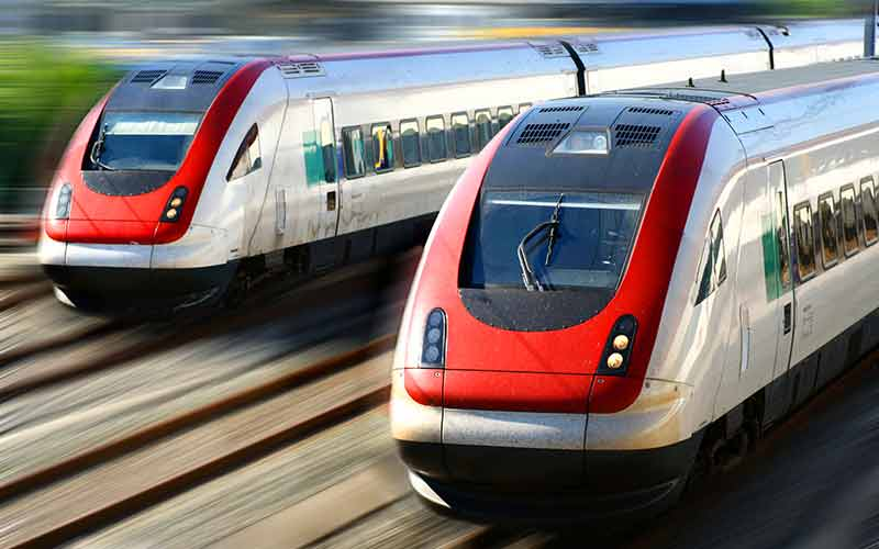 coatings image red high speed trains